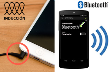 Connectez le casque via Bluetooth ou par induction