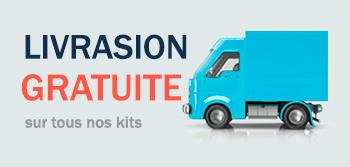 livrasion gratuite su tous nos kits