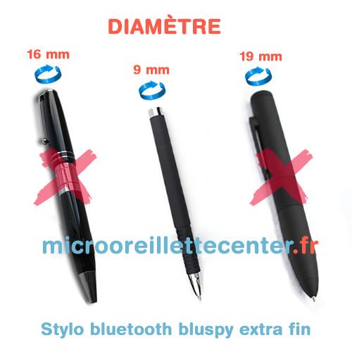 Micro oreillette avec stylo BluSpy extrafin